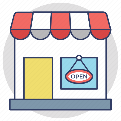 commercial signage, open shop, open sign board, shop sign, we are open icon