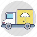 commercial delivery, delivery truck, delivery vehicle, logistic delivery, secure delivery icon