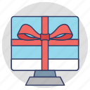 electronics gift, gift, gift hamper, present, special offer icon