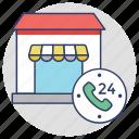 24 hours helpline, call center, customer support, helpline, hotline icon