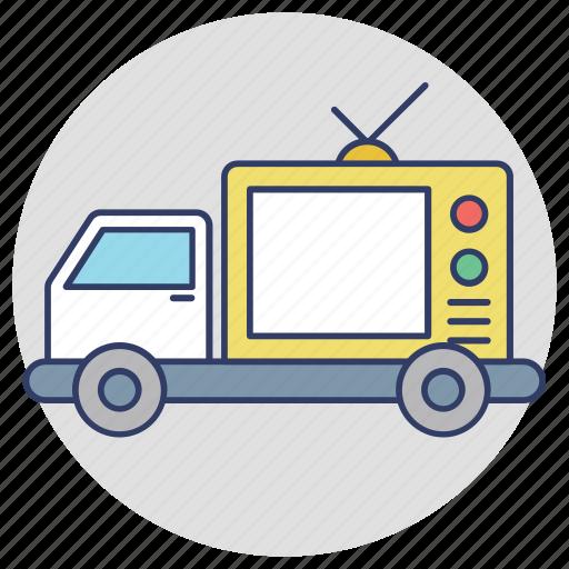 advertising truck, advertising van, digital advertising van, digivans, mobile billboard icon