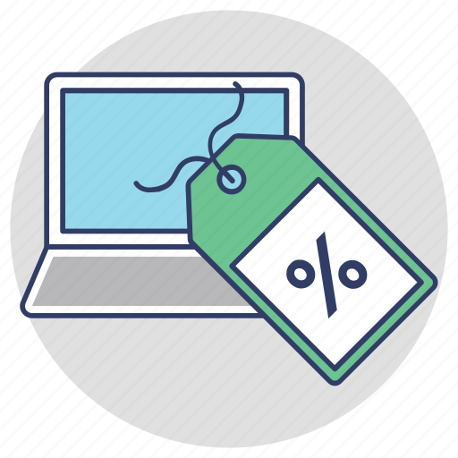 digital sales promotion, ecommerce, online discount, online marketing, sale promotion icon