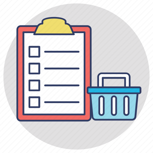 checklist grocery list merchandise shopping list wish list icon
