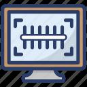 barcode scanning, order tracking, parcel scanning, parcel tracking, qr code scanning icon