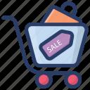 cut price, discount, offer, sale, sale label, sale tag icon