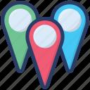 gps, location, location marker, location pins, location pointer, navigation icon