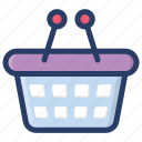 basket, hamper, picnic basket, shopping basket, shopping bucket icon