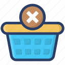 delete from basket, ecommerce, remove from basket, shopping, shopping bucket icon