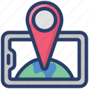 gps, location marker, location pointer, mobile navigation, online location, online map icon