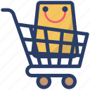 buying, commerce, purchasing, shopping, shopping cart icon