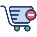 delete from basket, ecommerce, remove from cart, shopping, shopping bucket icon