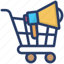 advertisement, announcement, loudspeaker, marketing, shopping campaign icon