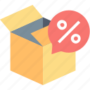 box, buy, delivery, discount, gift, sale, shopping icon