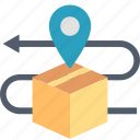 box, delivery, package, parcel, shipping, tracking, transportation icon