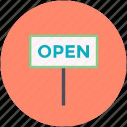 board, hotel board, open, open board, open sign icon