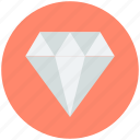 diamond, gemstone, gift, jewel, precious stone icon