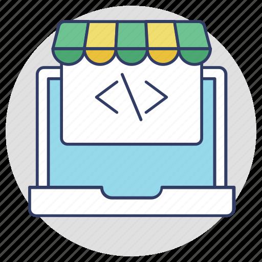 buy online, ecommerce, online shopping, web development, webshop icon