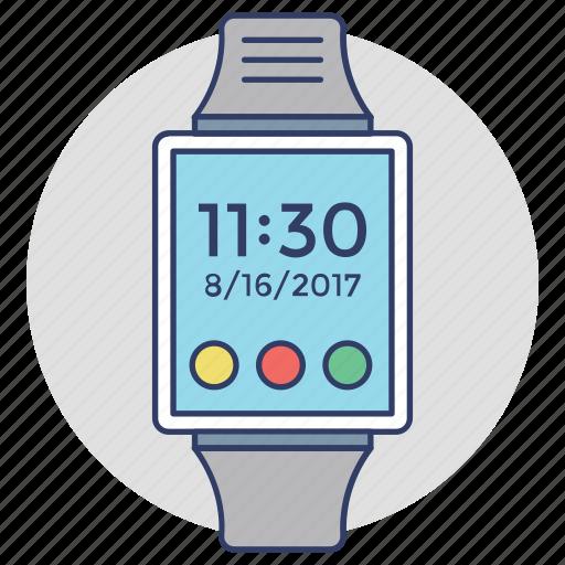 gadget, smartwatch, timepiece, watch technology, wristwatch icon