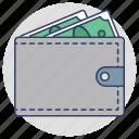 wallet, purse, banknote, billfold, cash