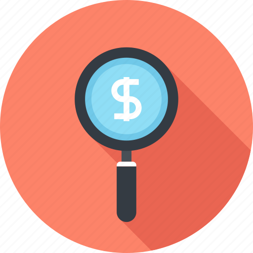 discount, dollar, find, magnifier, money, price, search icon