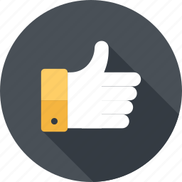 agree, favorite, gesture, good, like, thumb up, vote icon