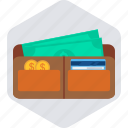 cash, finance, money, payment, shop, shopping, wallet icon