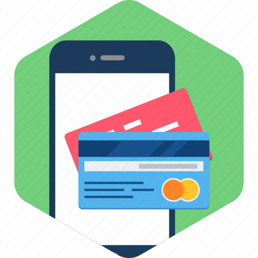 app, card, credit, mobile, payment, shopping, smartphone icon