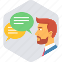 communication, customer, feedback, interaction, service, support, testimonial icon