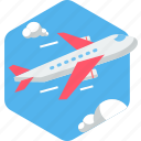 aeroplane, airplane, flight, plane, transport, transportation, travel icon