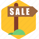 arrow, board, direction, path, sale, shopping, sign icon
