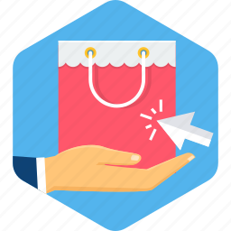 click, online, pay, per, ppc, sale, shopping icon