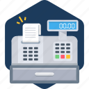 bill, billing, counter, invoice, machine, payment, time icon