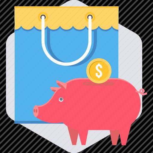 budget, cashback, ecommerce, sale, save, savings, shopping icon