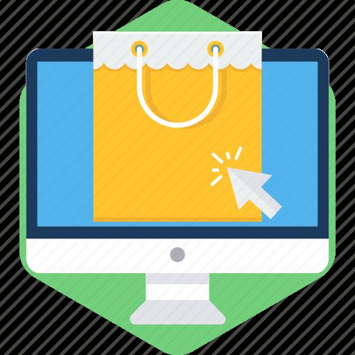 click, desktop, monitor, online, sale, screen icon
