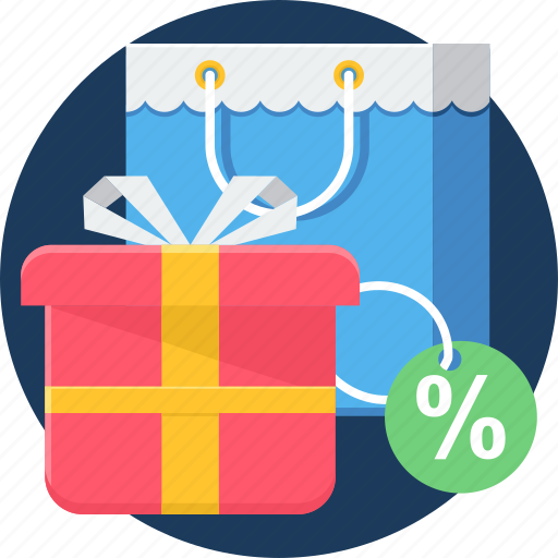 buying, discount, gift, items, purchase, sale, shopping icon