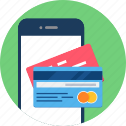 app, card, mobile, pay, payment, phone, shopping icon