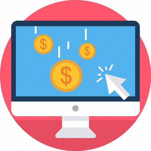 click, ecommerce, online, pay, pay per click, ppc, shopping icon