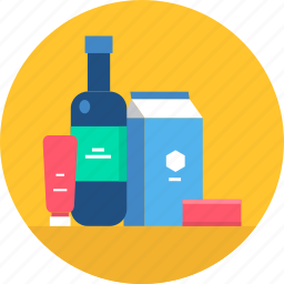 cooking, food, grocery, items, kitchen, shopping, useful icon