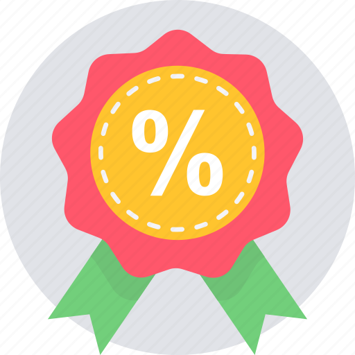 badge, discount, label, offer, percent, sale, shopping icon