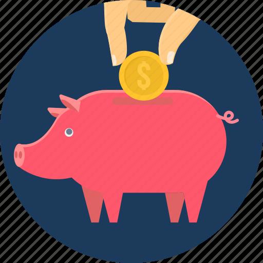 bank, budget, invest, piggy, save, saving, savings icon