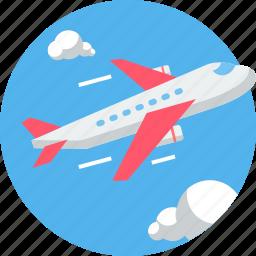 aeroplane, air, airplane, courier, first flight, flight, transport icon