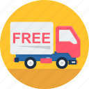 delivery, free, road, shipping, transportation, truck, vehicle icon