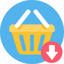basket, buy, cart, commerce, ecommerce, shipping, shopping icon