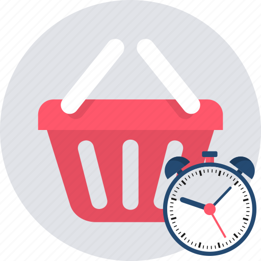 cart, ecommerce, hours, shipping, shopping, time, timings icon