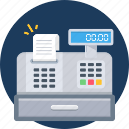bill, billing, counter, ecommerce, invoice, machine, shopping icon