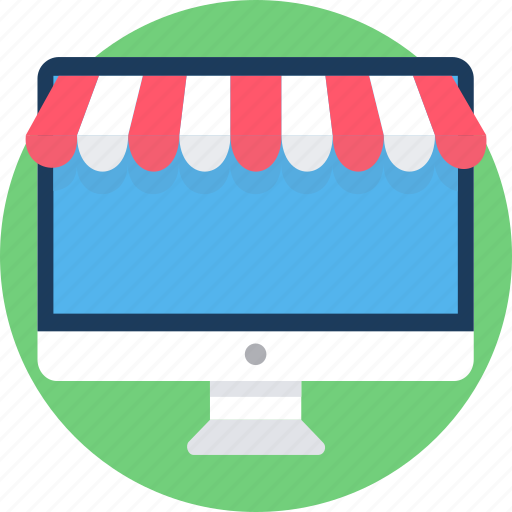cart, desktop, ecommerce, monitor, online, screen, shopping icon