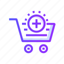 add, commerce, ecommerce, shipping, shopping icon