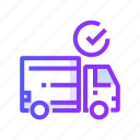 delivery, package, transport, transportation, truck icon