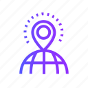 gps, location, navigation, pin, shop icon