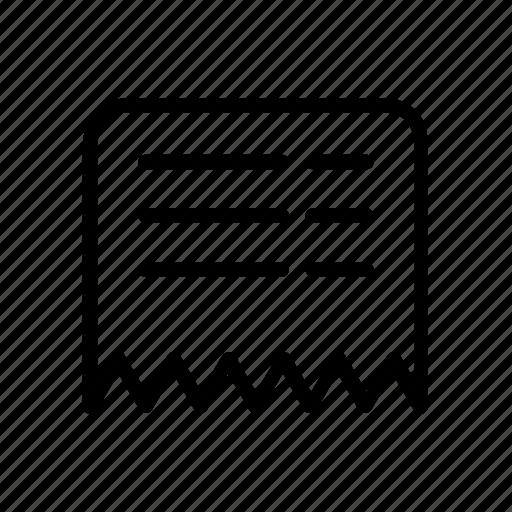 e-commerce, receipt, shopping, struk icon